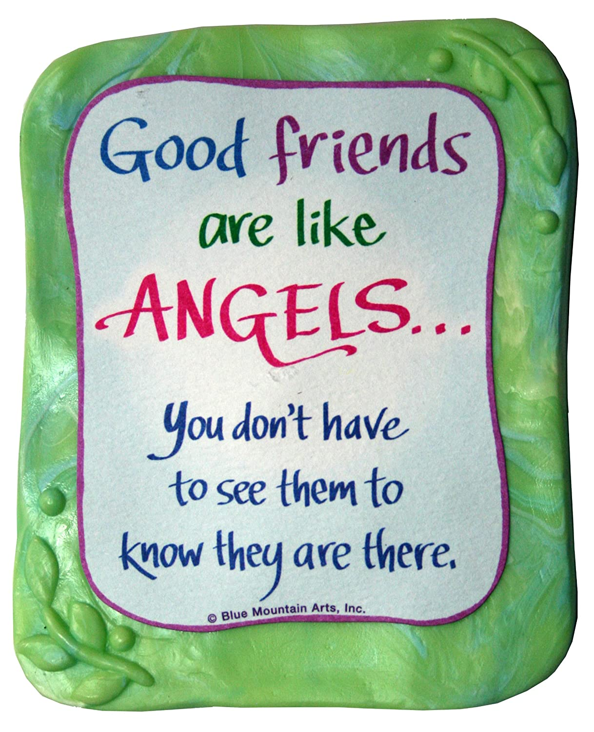 3.0 x 3.5 Sculpted Magnet Good Friends Are Like Angels