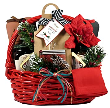 gift basket village country christmas breakfast basket a christmas morning breakfast kit friends or