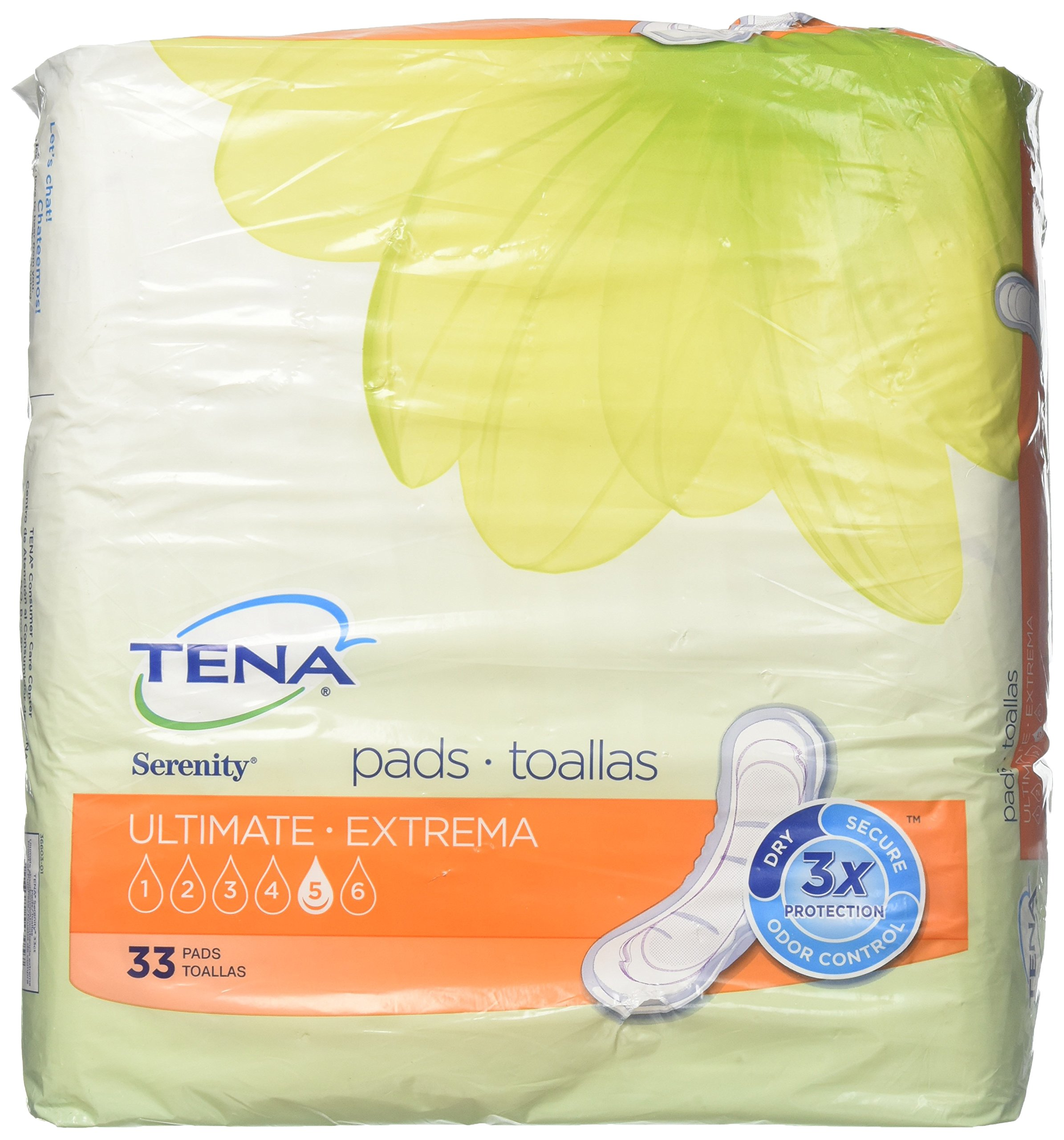 Tena Incontinence Pads for Women, Ultimate, 33 Count (Packaging May Vary)