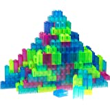 Classic Big Briks by Strictly Briks | Building Brick Set 100% Compatible with All Major Brands | 2 Large Block Sizes For Ages 3+ | Building Bricks in 4 Fun Clear See Through Colors | 108 Pieces