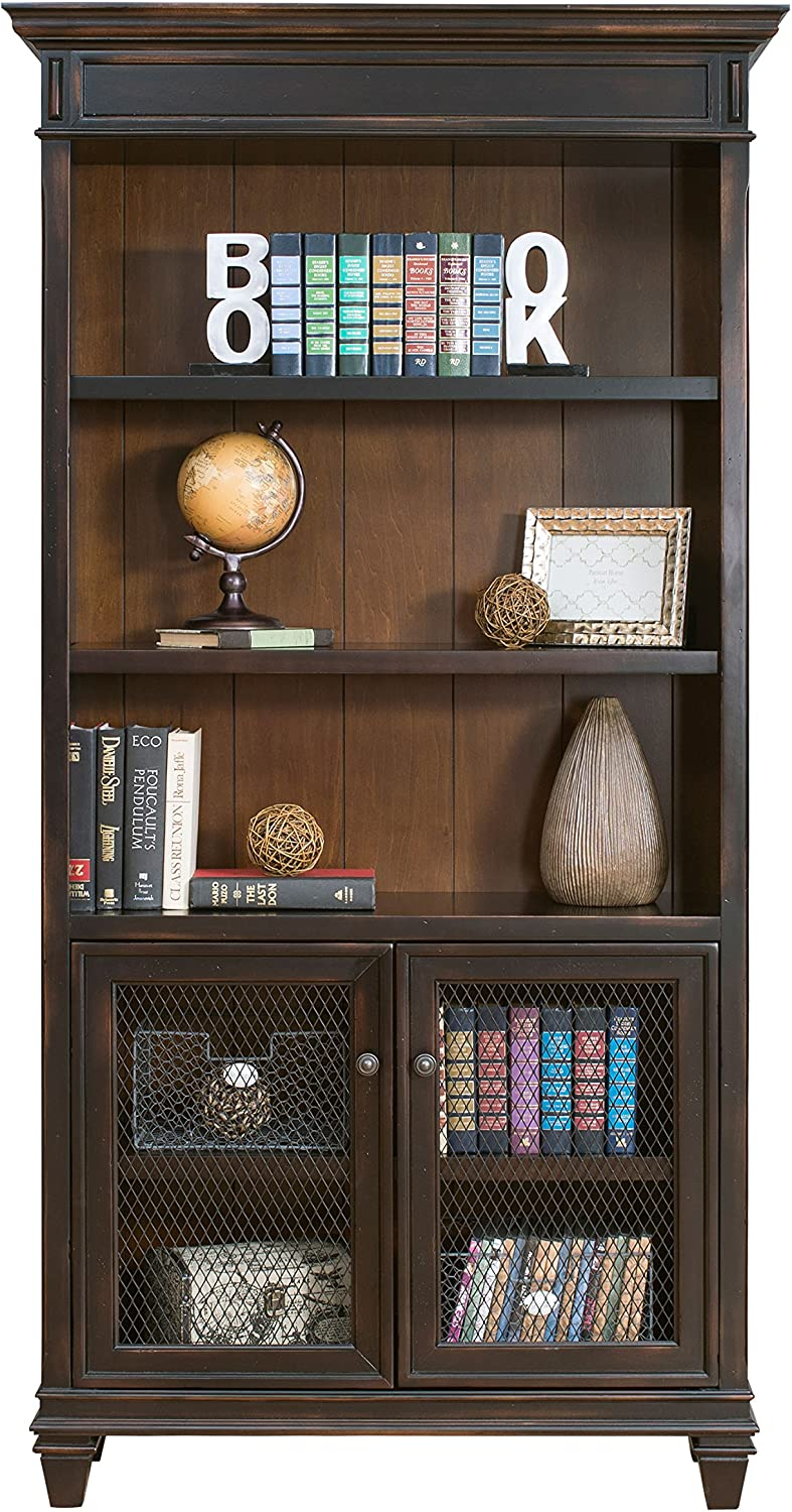 Martin Furniture Hartford Library Bookcase, Brown – Fully Assembled