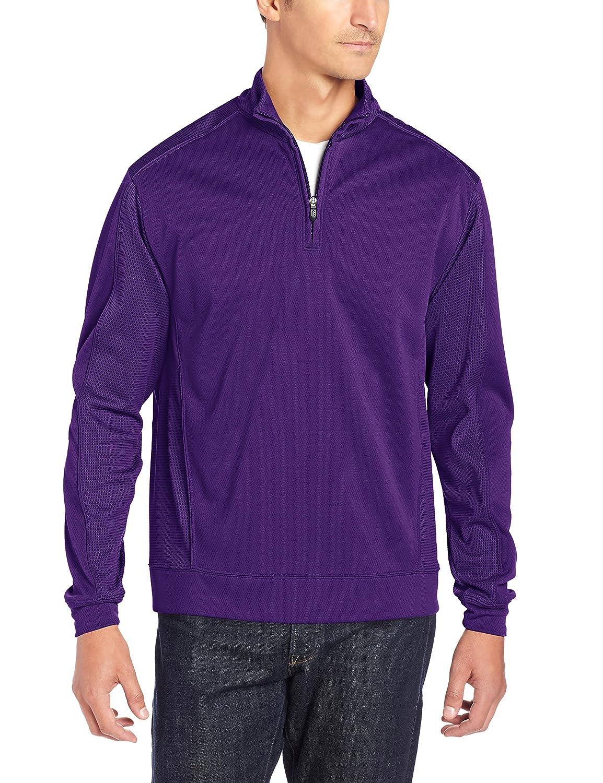 Cutter & Buck MCK08861 メンズ DryTecエッジ ハーフジップジャケット B008167JUO M|パープル(College Purple) パープル(College Purple) M