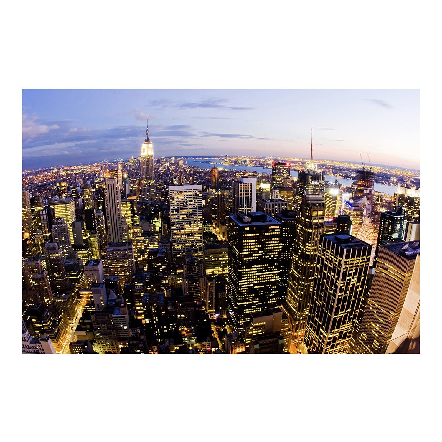 Amazon Com Apalis Non Woven Wallpaper New York Skyline At Night