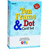 Learning Advantage 7295 Ten Frames & Dot Card Set, Grade: Kindergarten to 2