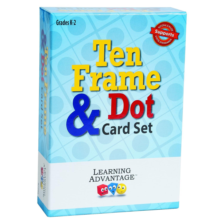 Amazon.com: Learning Advantage 7295 Ten Frames & Dot Card Set, Grade ...