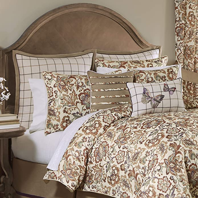 Croscill Delilah Queen 4 Piece Comforter Set In Spice Finish 2A0-003O0-9009/225