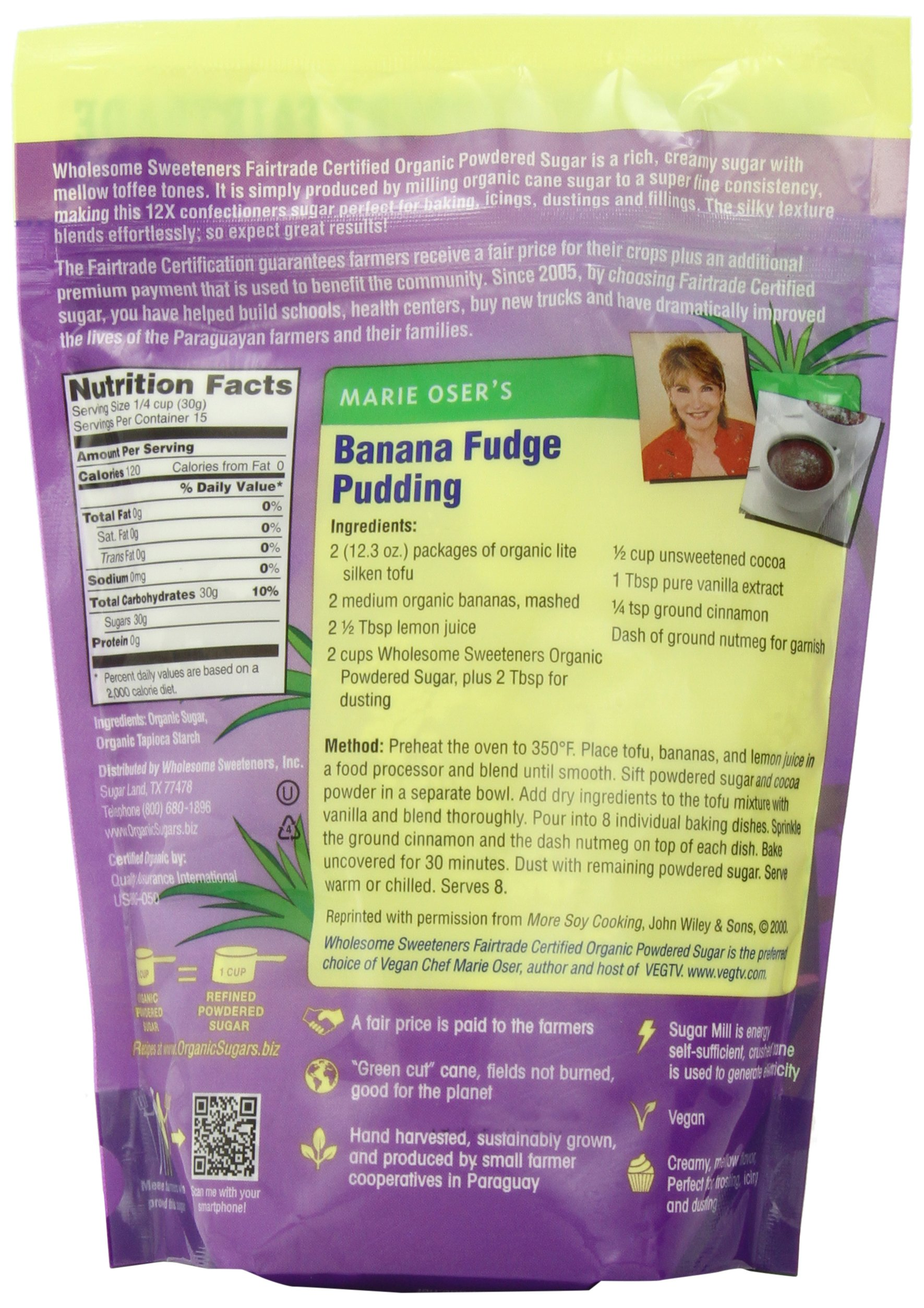 Wholesome Sweeteners Organic Powdered Sugar, 16 oz by Wholesome Sweeteners (Image #1)