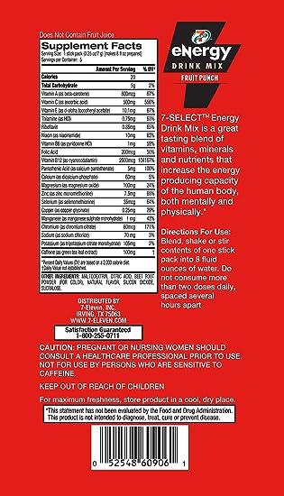v energy drink ingredients