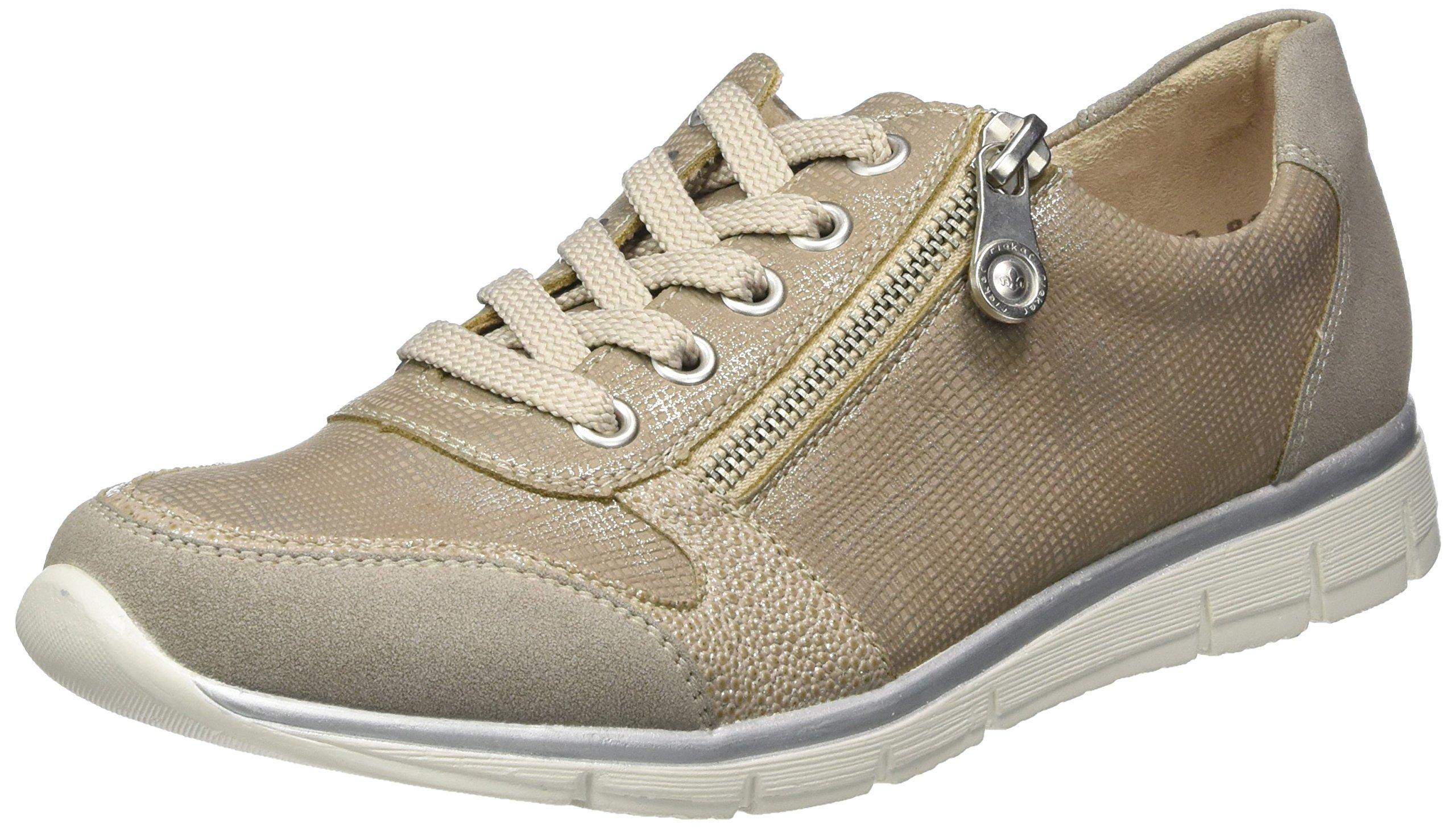 Rieker womens lace up shoes vapor/pearl-silver/fango-silver size 9.5 B(M) US