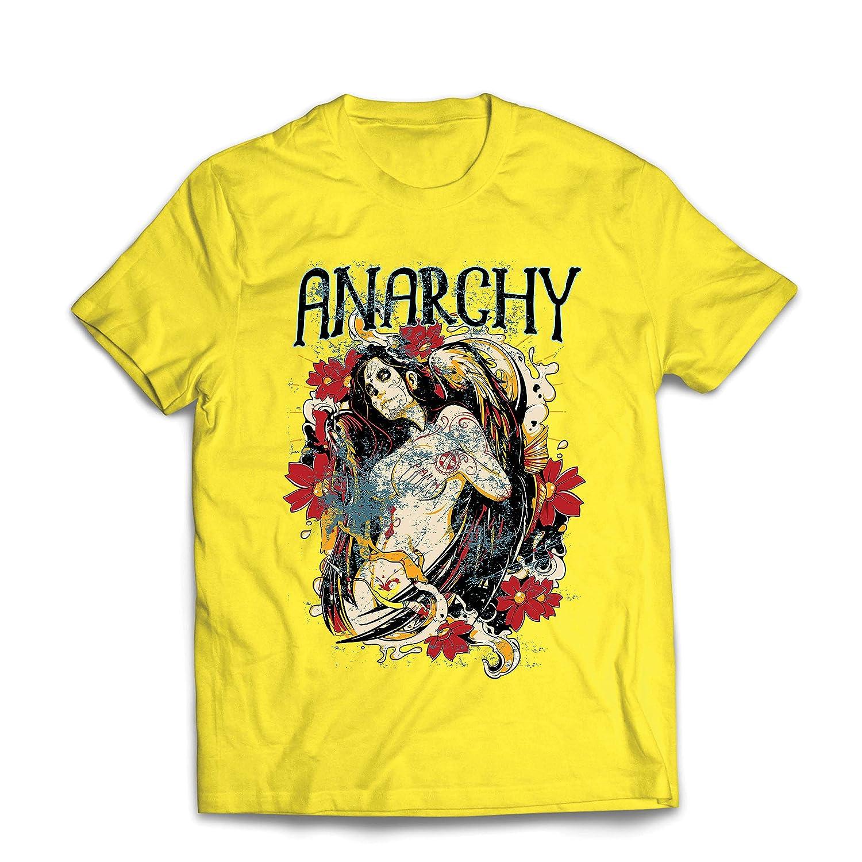 Dia de Muertos lepni.me Mens T-Shirt Anarchy Day of The Dead Skull