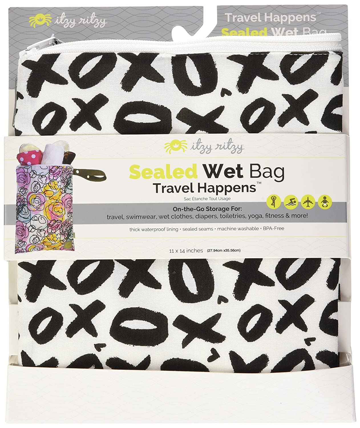 Raining Cats and Dogs Itzy Ritzy IR-WBMH8304 Travel Happens Medium Sealed Wet Bag with Handle