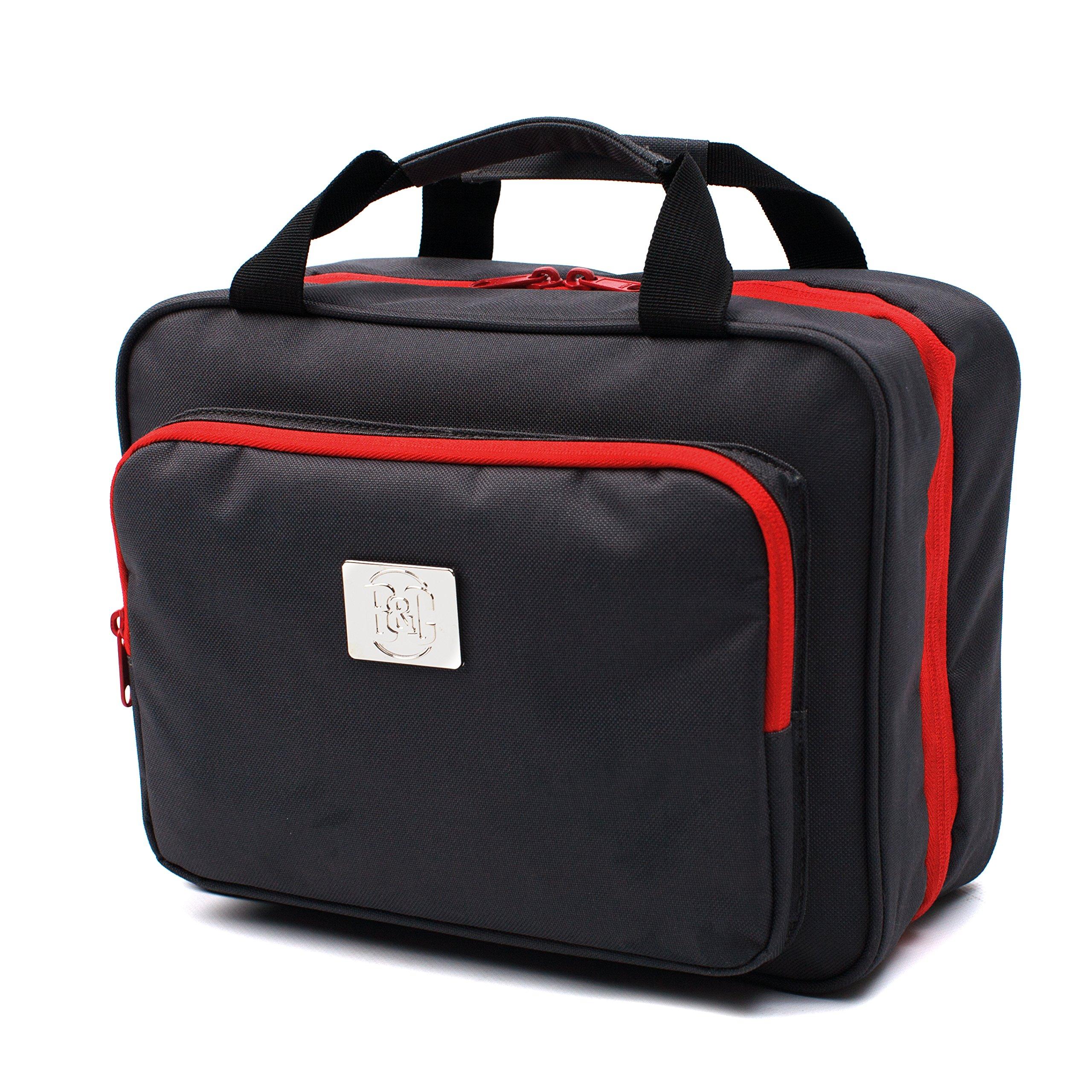 0be363105b69 Amazon.com   Large Versatile Travel Cosmetic Bag - Perfect Hanging Travel  Toiletry Organizer (XL Grey)   Beauty