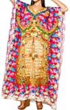 La Leela Women's Floral Beach Dress Kimono Swimsuit Swimwear Bikini Cover up Long Caftan