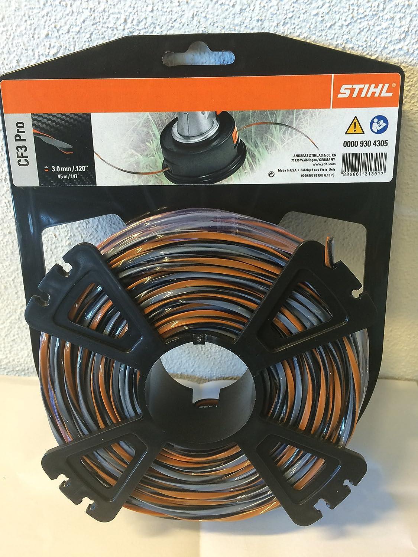 Hilo para cortabordes Stihl 00009304305 CF3 Pro, forma de cruz con ...