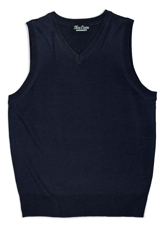 Blue Ocean Kids Solid Color Classic Sweater Vest SV-243-UKIDS