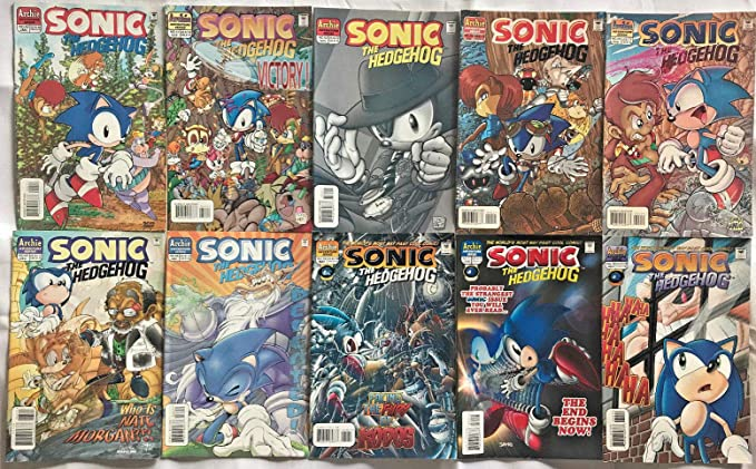 Sonic The Hedgehog 42 72 Fn Vf Lot 10 Books 1995 Archie Comics At Amazon S Entertainment Collectibles Store