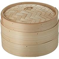 Trademark Innovations BAMB-RICEST Bamboo Rice Steamer, Standard, Tan