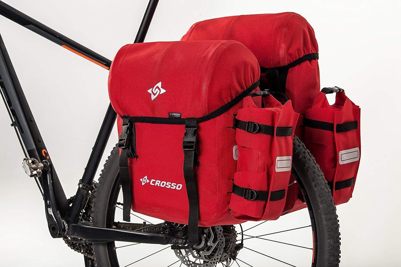 Crosso Unisex 66 L Borsa per bicicletta Adulto Expert Rosso