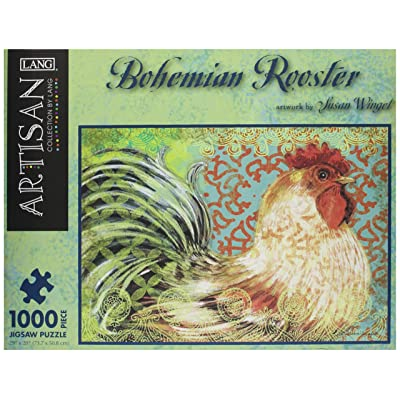 LANG Bohemian Rooster by Susan Winget Jigsaw Puzzle (1000-Piece): Toys & Games