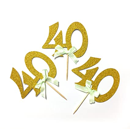 40th Birthday Party Cupcake Topper 12 Pack Number Quot40quot Toppers