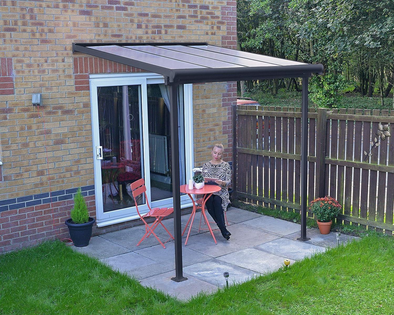 Palram Cubierta de aluminio de alta calidad para terraza, balcón, terraza, 230 x 230 cm (profundidad x ancho), color gris: Amazon.es: Jardín