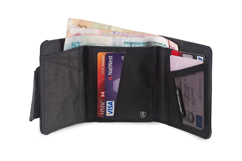 Portemonnaie mit Ausleseschutz Lifeventure RFID Geldb/örse Tri-Fold