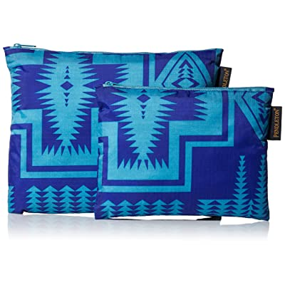 Pendleton Women's 2 Pack Zip Pouch, harding royal, One Size: Clothing