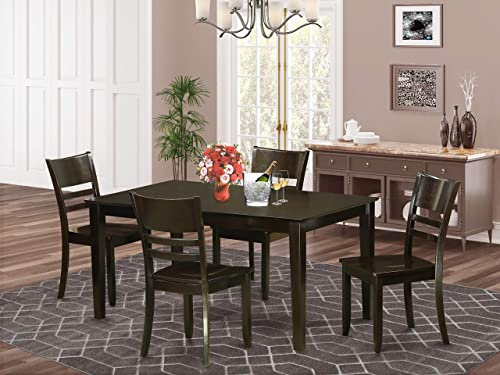 East West Furniture Small Dining Table Set 5 Pc