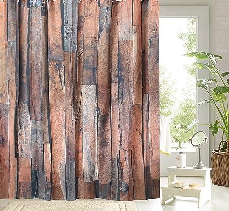 Vintage Rustikal Holz Zaun Board Plank Mauer Stoff Badezimmer Dusche