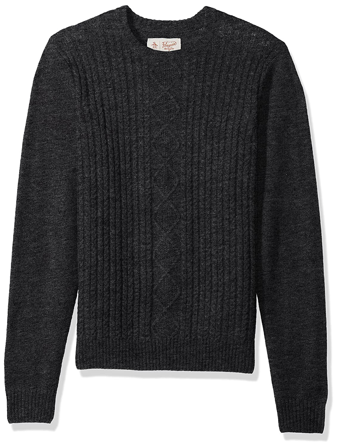 Original Penguin Men's Fisherman's Cable Crew Sweater OPGF7C12