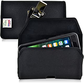 product image for Turtleback Belt Clip Case Compatible with Apple iPhone 8 Plus & iPhone 7 Plus w/OB Defender case Black Holster Nylon Pouch with Heavy Duty Rotating Belt Clip Horizontal Made in USA