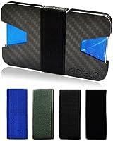 Slim Wallet for Men. Front Pocket Cash & Credit Card Holder. Minimalist and Light Weight. Includes 4 Money Clip Bands.