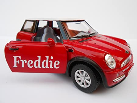 Personalised Bmw Mini Toy Car Any Name Boy Girl Dad Mom Grandad
