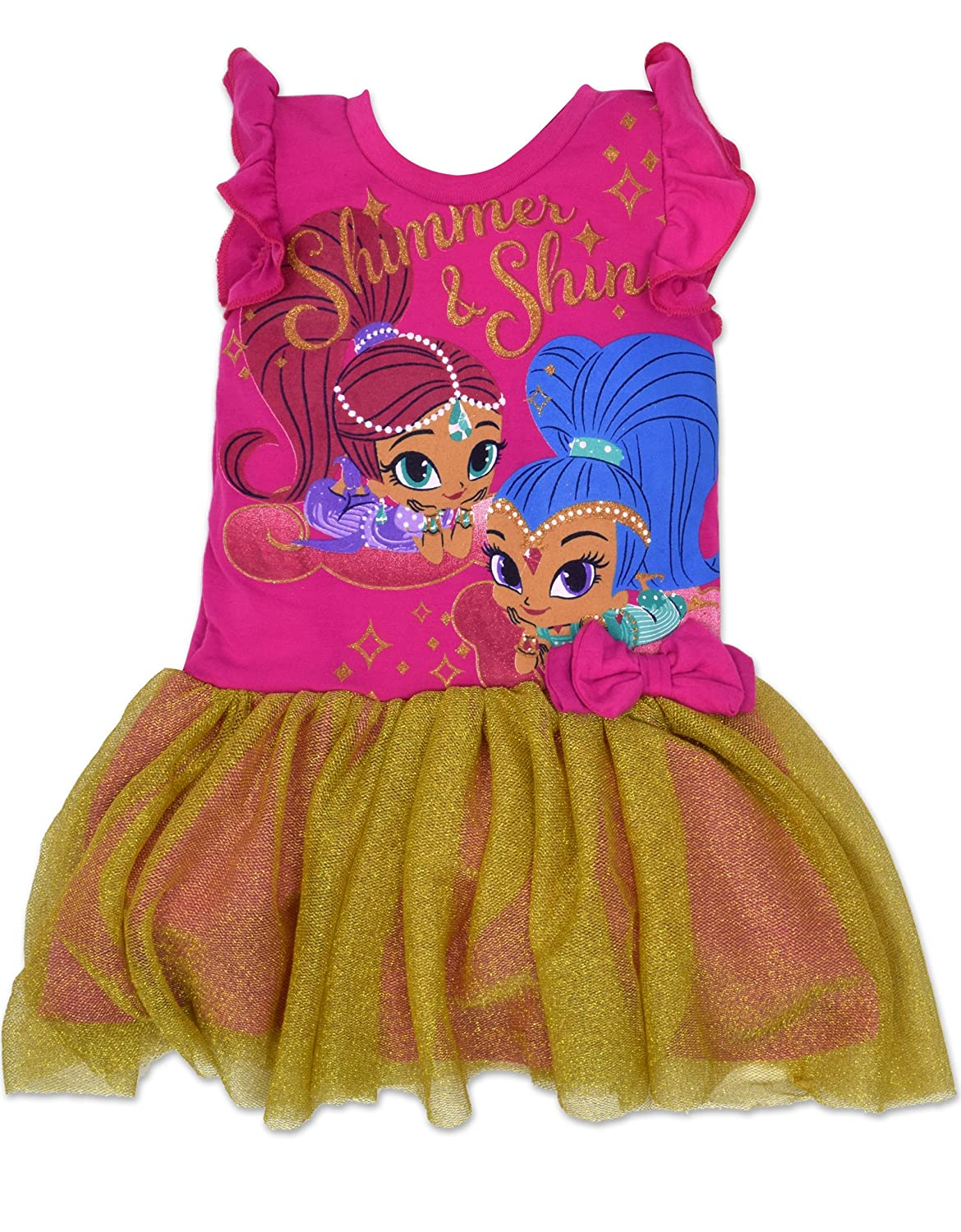 Top8  Toddler Girls  Shimmer and Shine Dress - Pink and Gold 645edd94e