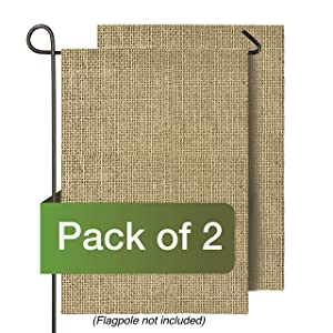 "Atenia Blank Garden Flags, 2 PCS (12""x18"") DIY Personalized Burlap Garden Flag for Outdoor Patio Garden Yard Decorate"