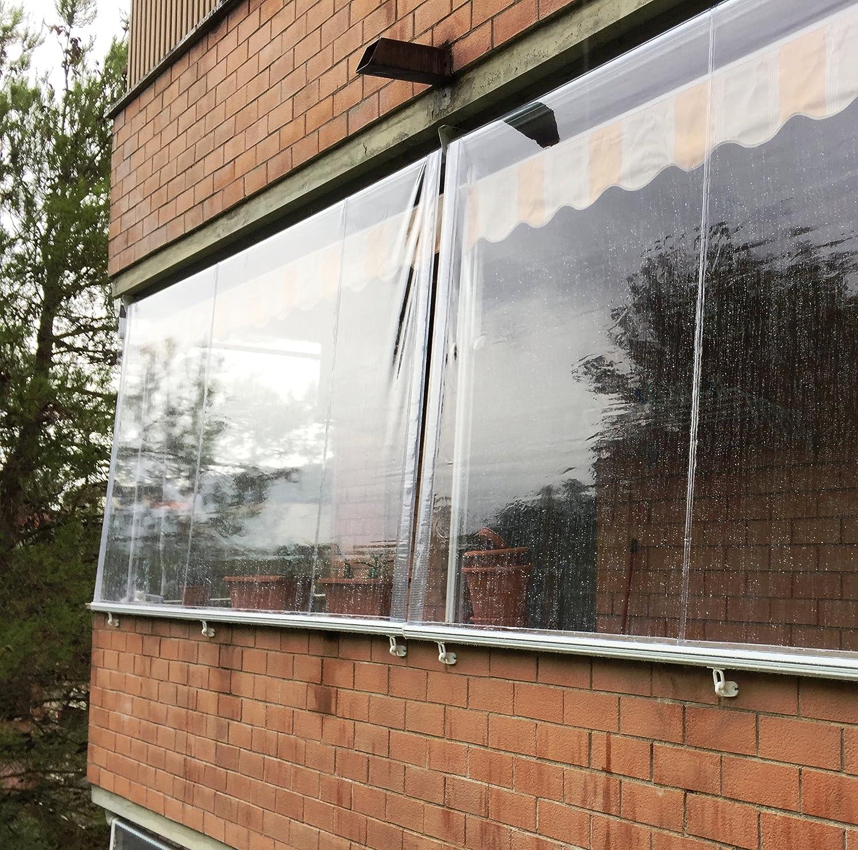 Tende A Rullo Per Esterni In Pvc Trasparente.Tenda Antipioggia In Pvc Crystal Trasparente 300x200