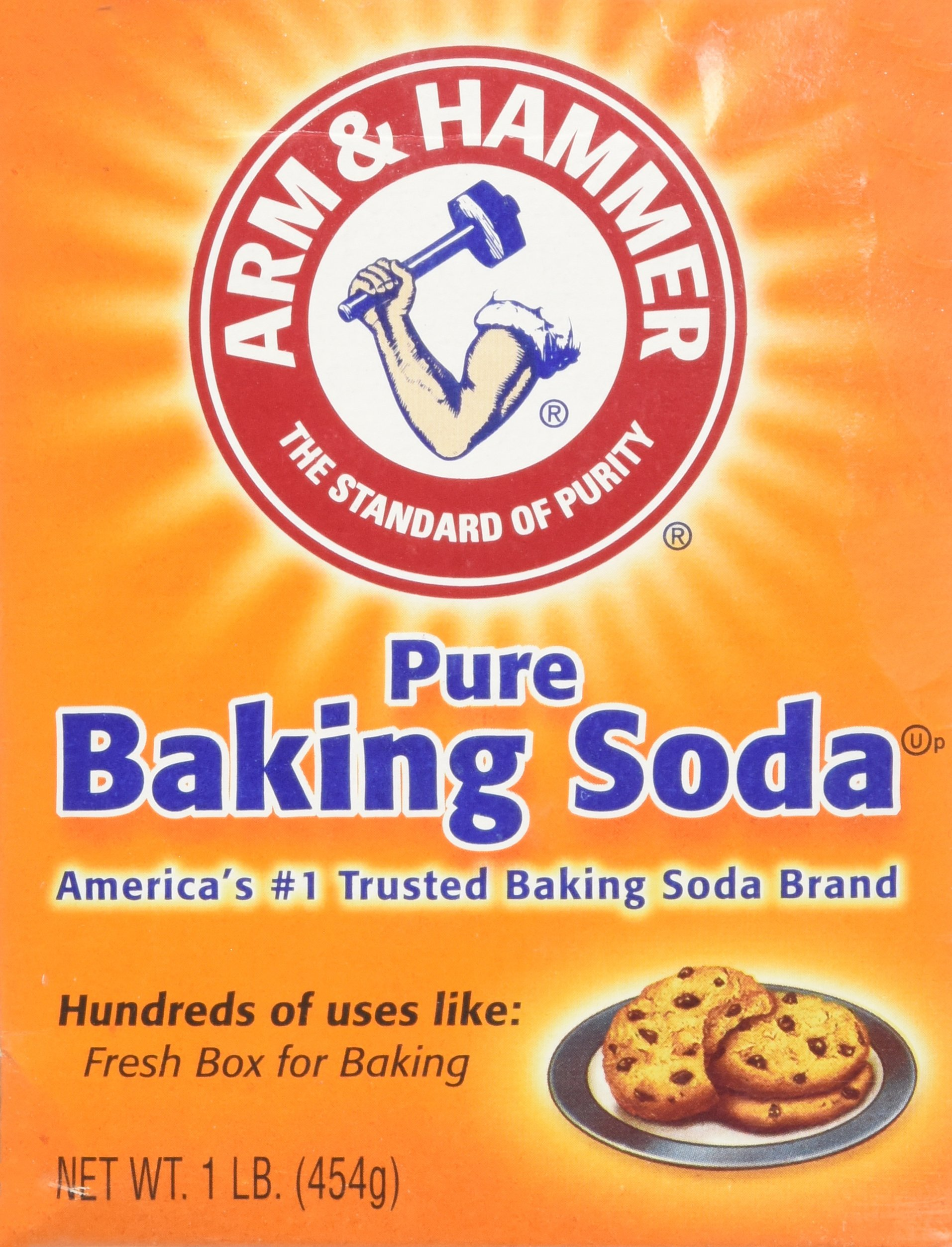 Arm & Hammer Pure Baking Soda, 16 Ounces (Pack of 6)