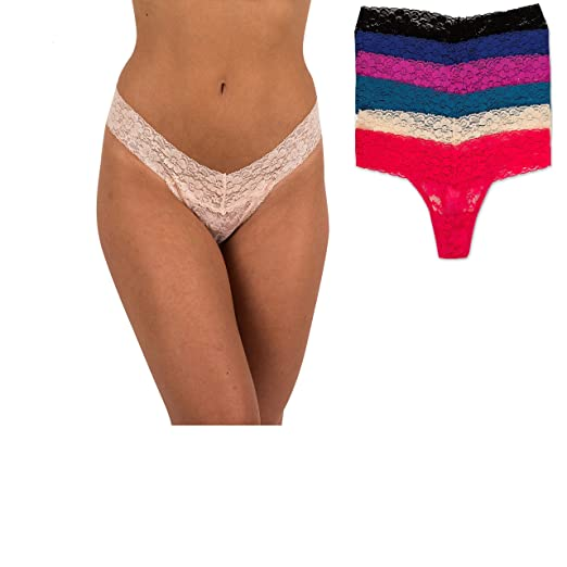 c0a5b6b743bb0 Sexy Basics Women s 6 Pack Tonia Stretch Lace Thong Pantys (L 7