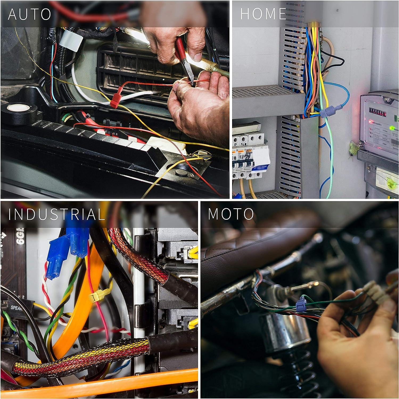Amarillo Wire Tap T-Tap Terminales-Pack De 10