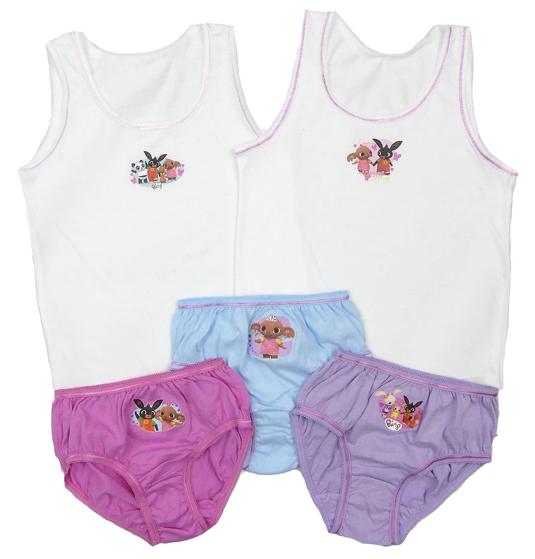 18 Months-5 Years Girls DOC McSTUFFINS Cotton Briefs//Knickers /& Vests Set