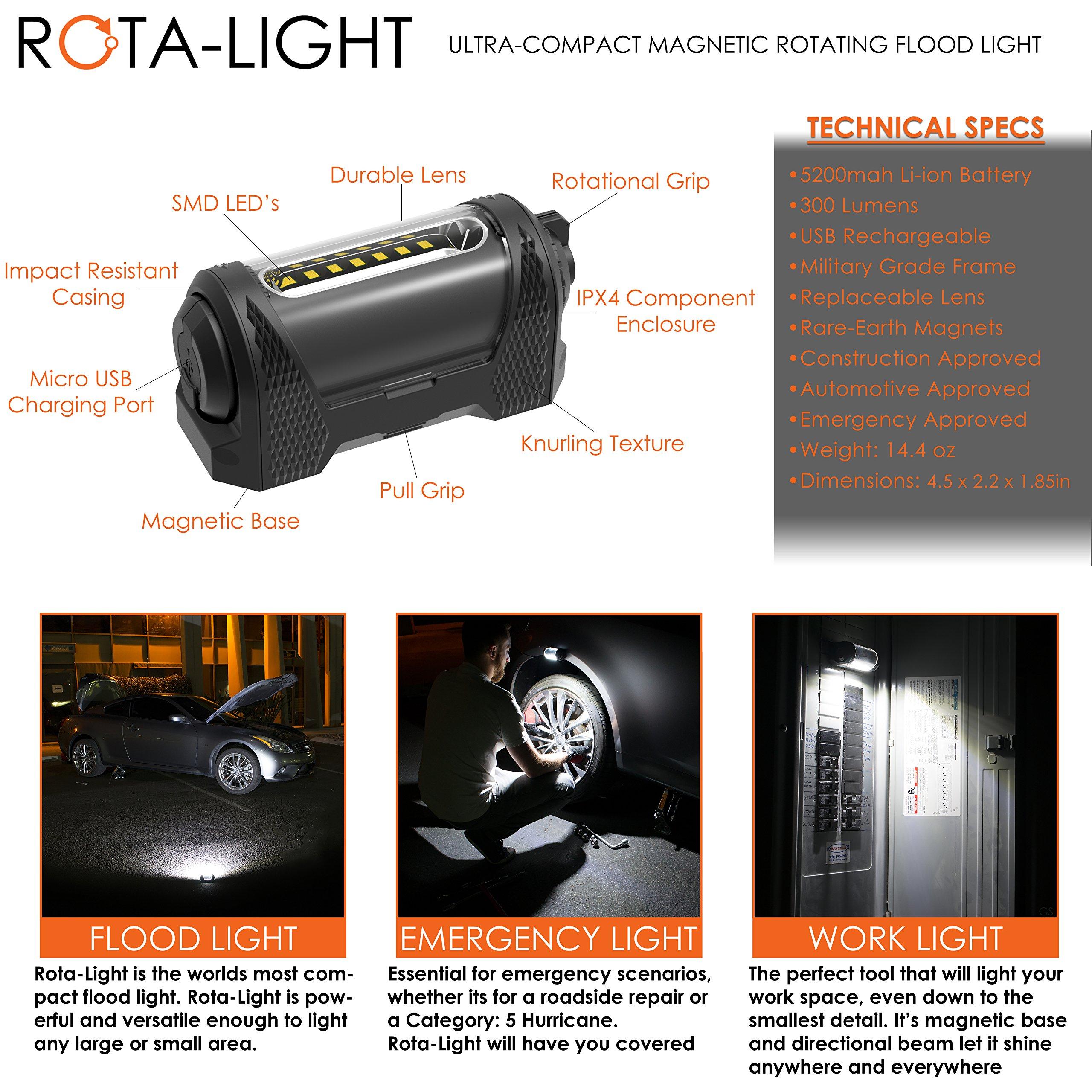 Rota-Light - Premium Magnetic Work Light w/ 9-Hour Battery Life by ROTA-LIGHT (Image #2)