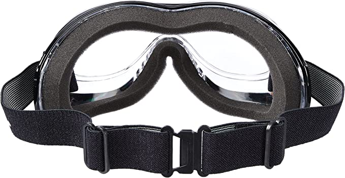 Pacific Coast Airfoil Goggle Padded Fit Over Glasses OTG Smoke Silver 9300