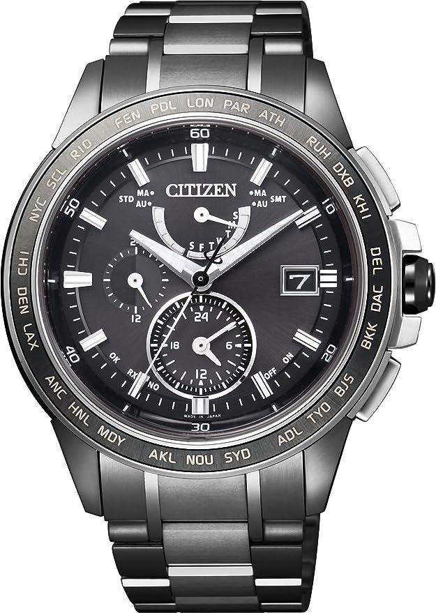 [シチズン] 腕時計 アテッサ エコ・ドライブ 電波時計 AT9025-55E ブラック