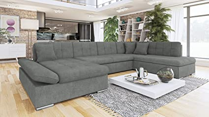 Brilliant Honeypot Furniture Sofa Bergen Corner Sofa Bed Storage Faux Leather Fabric All Grey Right Hand Corner Beutiful Home Inspiration Xortanetmahrainfo