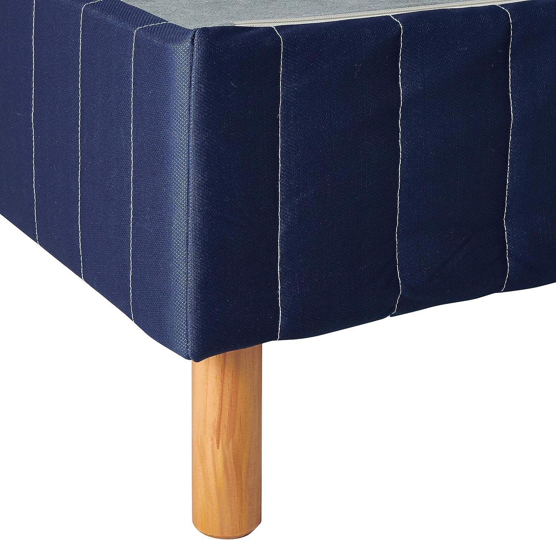 Zinus Justina Quick Snap Standing Mattress Foundation | Platform Bed, No Box Spring Needed | Navy, Queen: Furniture & Decor