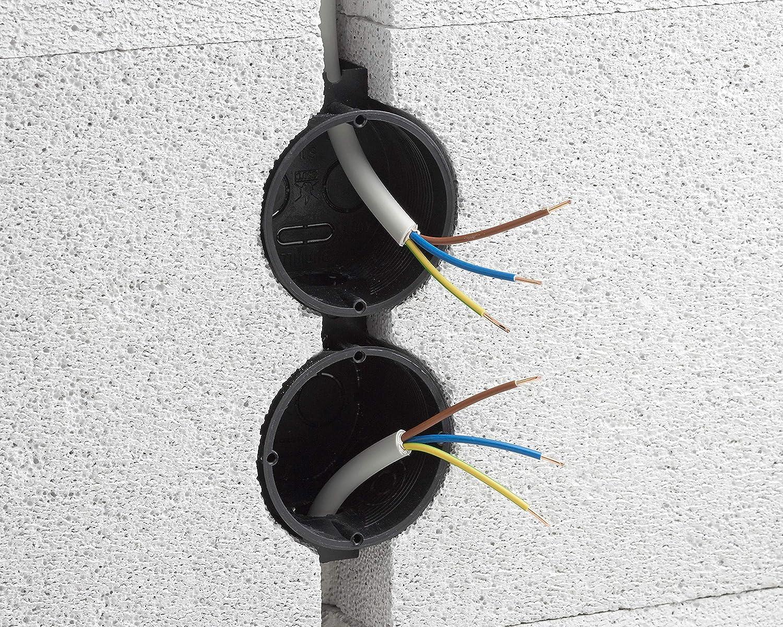 50 Unidades 40 mm de Profundidad con Tubo de derivaci/ón Meister 7460020 7460020-Caja de distribuci/ón 60 mm de di/ámetro para Montaje de interruptores y enchufes
