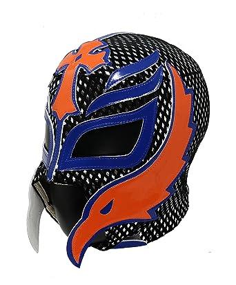 Rey Mysterio Professional Lucha Libre Wrestling Mask. Mascara Profesional de Lucha Libre (Black/
