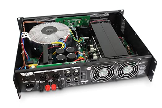 Amazon.com: NOVIK NEO NOVO 2500 Power Amplifier Bridge RMS 2500-Watt RMS output power 4 ohm: 1250W Screen channel temperature protect, clip and signal ...