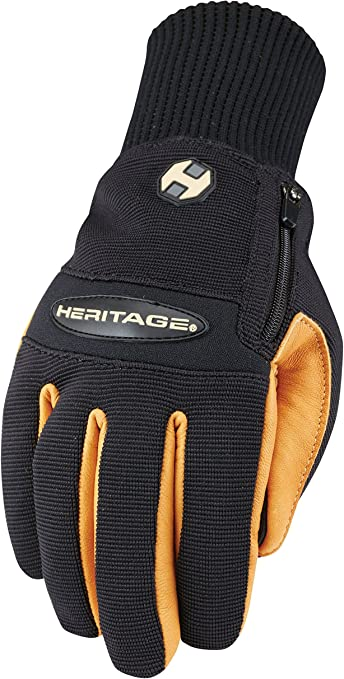 Heritage Mens Suede Black Winter Gloves