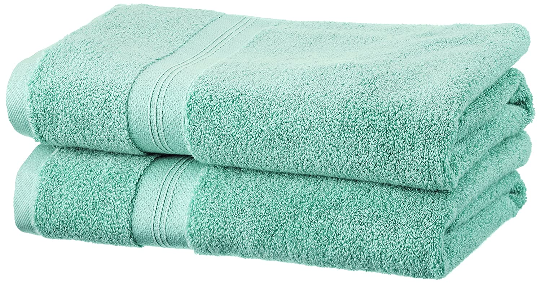 Pinzon - Juego de toallas de algodón Pima (2 toallas de baño), color verde mineral: Amazon.es: Hogar